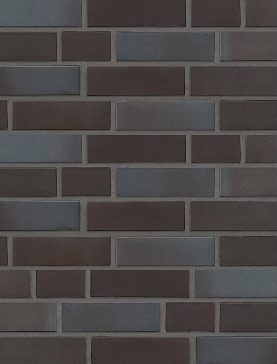 Клинкерная плитка Stroeher со швом - «336 metallic schwarz»