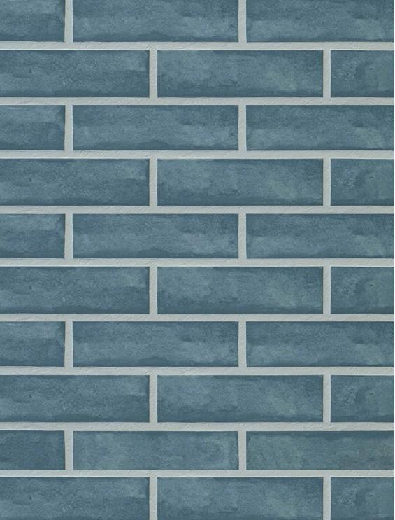 Клинкерная плитка Stroeher со швом - «3226 aqua grun»